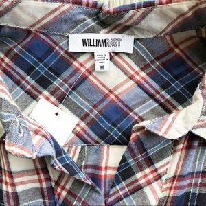 William Rast Tops - William Rast Red White Blue Pullover Plaid Blouse